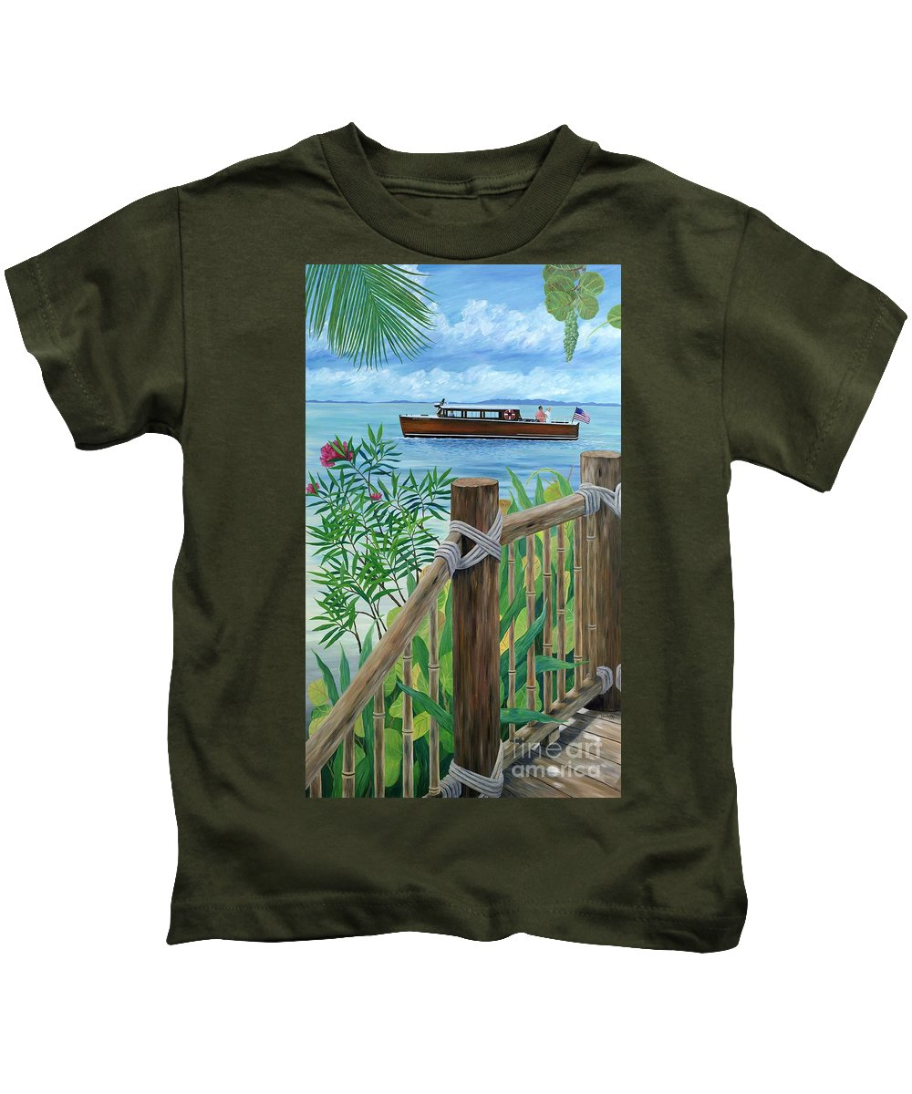 Island Kids T-Shirt featuring the painting Little Palm Island by Danielle Perry