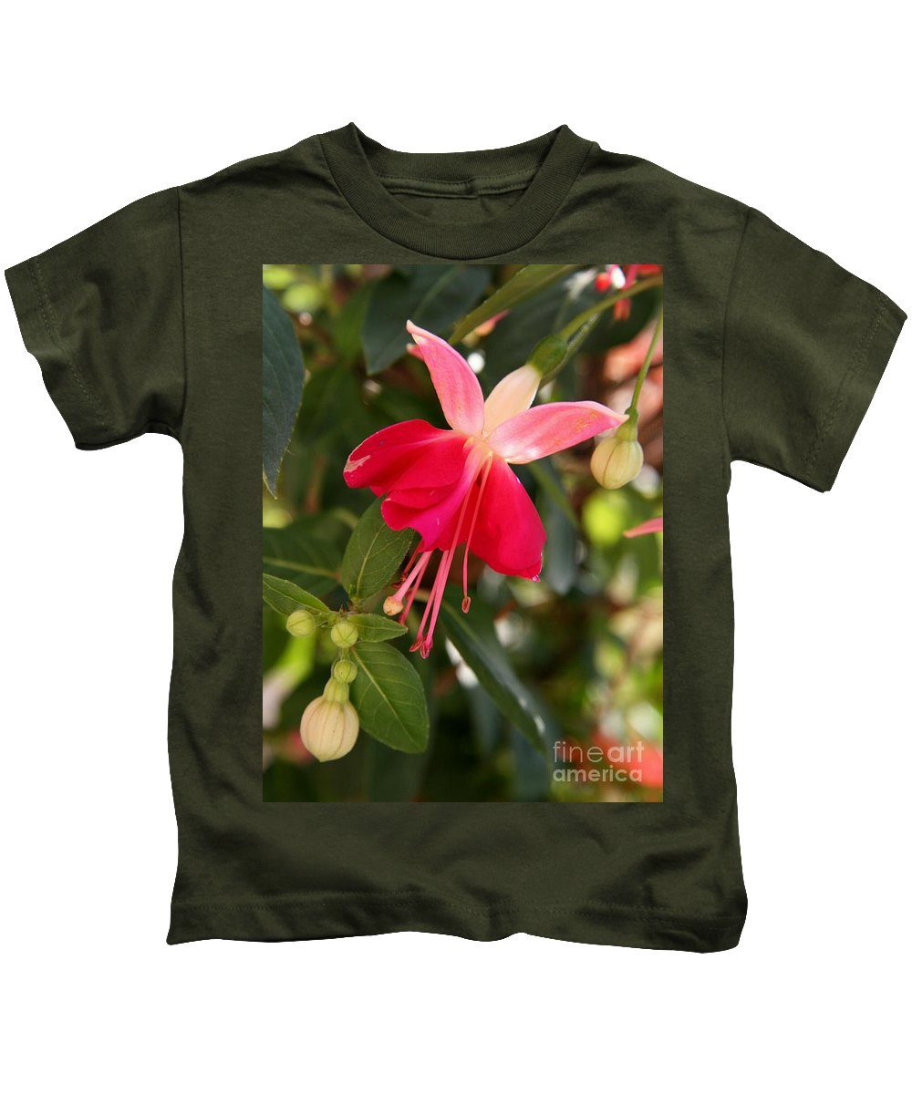 Fuchsia Kids T-Shirt featuring the photograph Little Red Skirt by Christiane Schulze Art And Photography