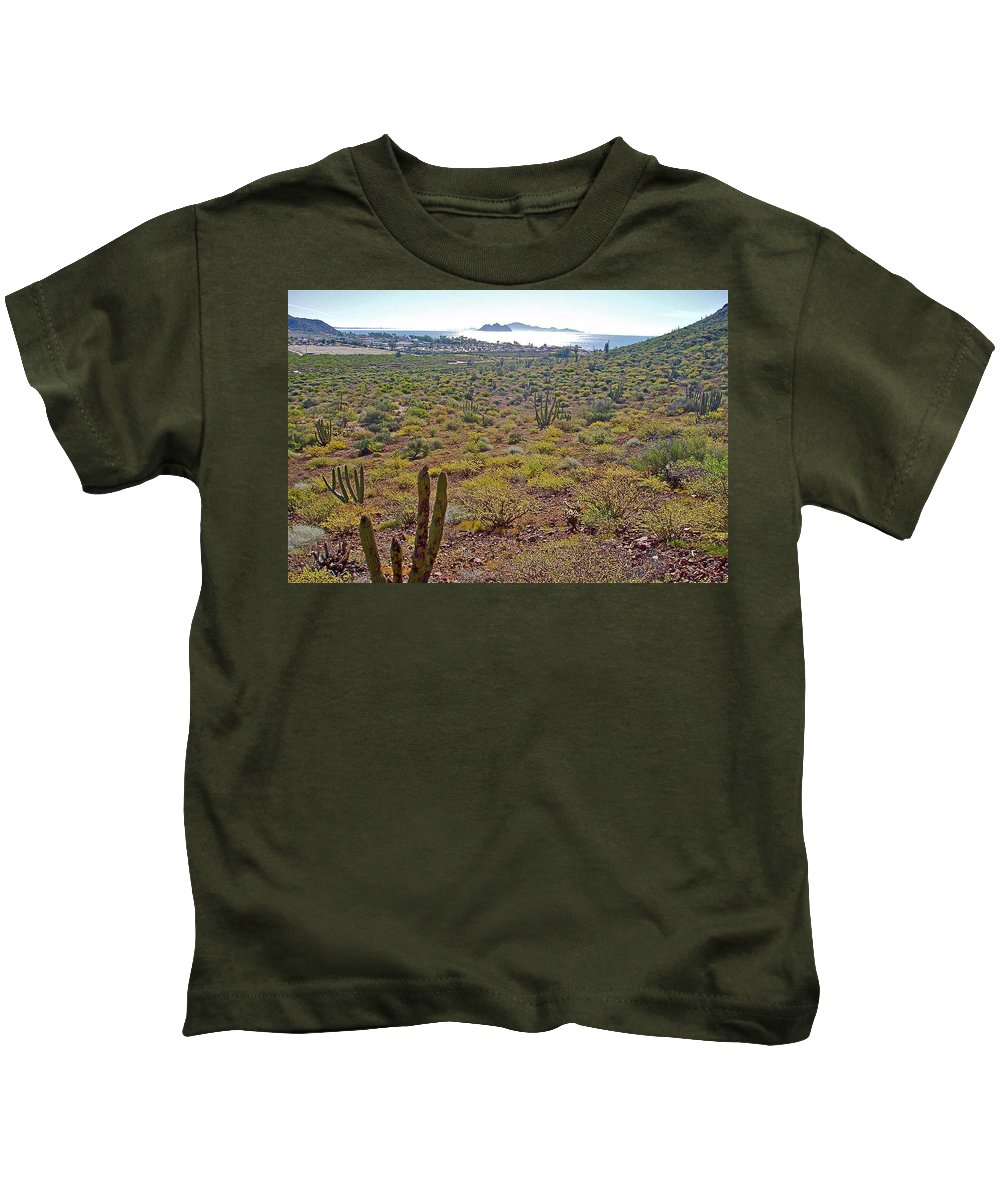 Looking Toward Bahia Kino Over Sonoran Desert Sonora Kids T-Shirt featuring the photograph Looking Toward Bahia Kino Over Sonoran Desert-sonora-mexico by Ruth Hager