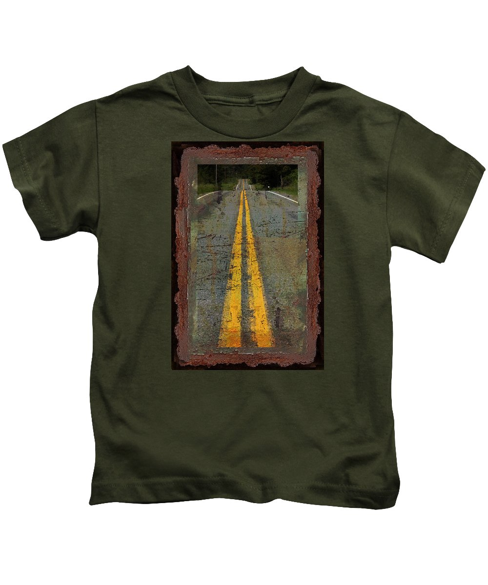 Highway Kids T-Shirt featuring the photograph The Road Goes On Forever by John Stephens