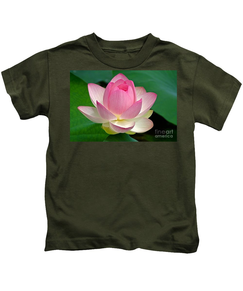 Lotus Kids T-Shirt featuring the photograph Lotus 7152010 by Byron Varvarigos