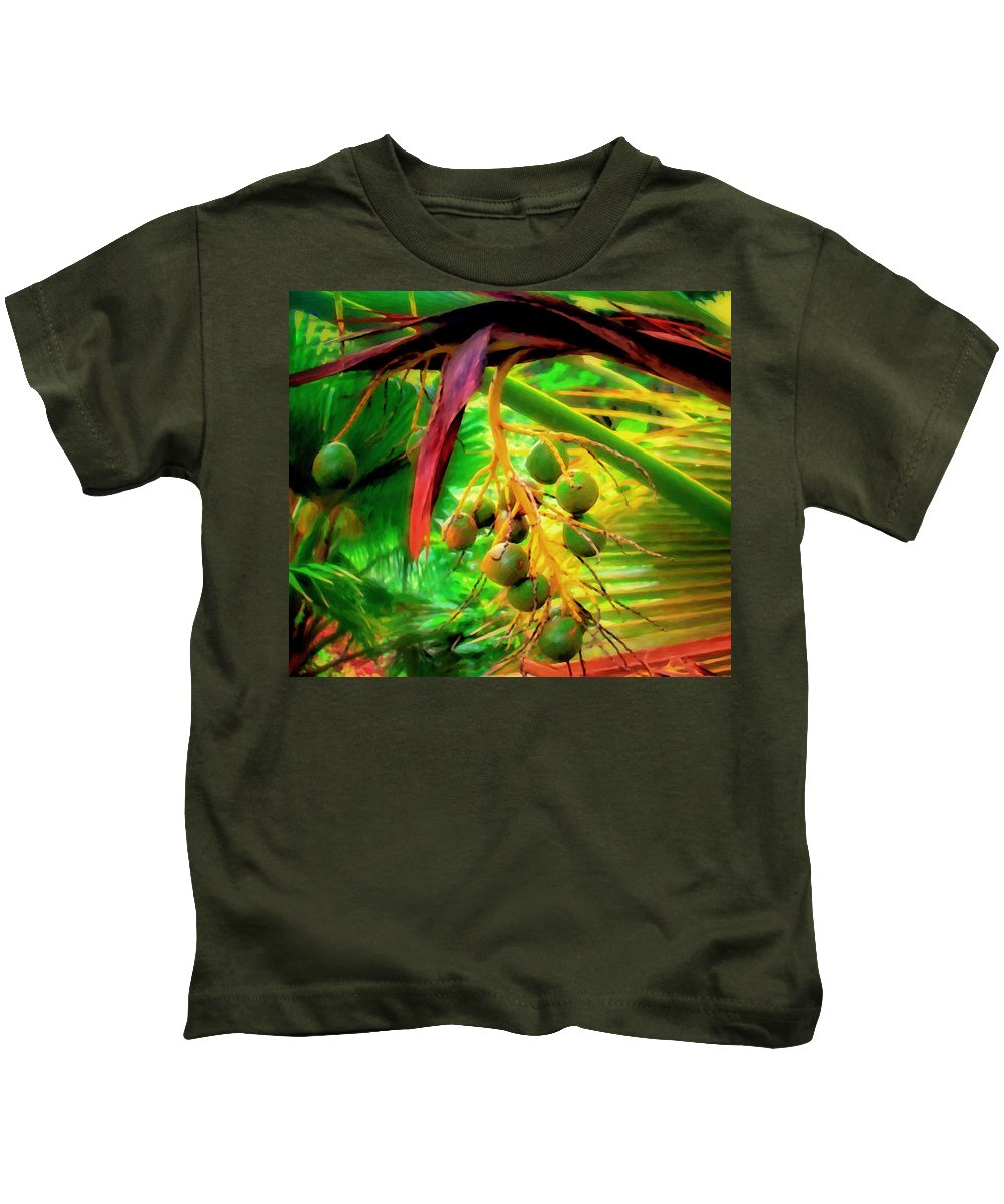 Palm Tree Kids T-Shirt featuring the painting Loulu Palm by Michael Pickett