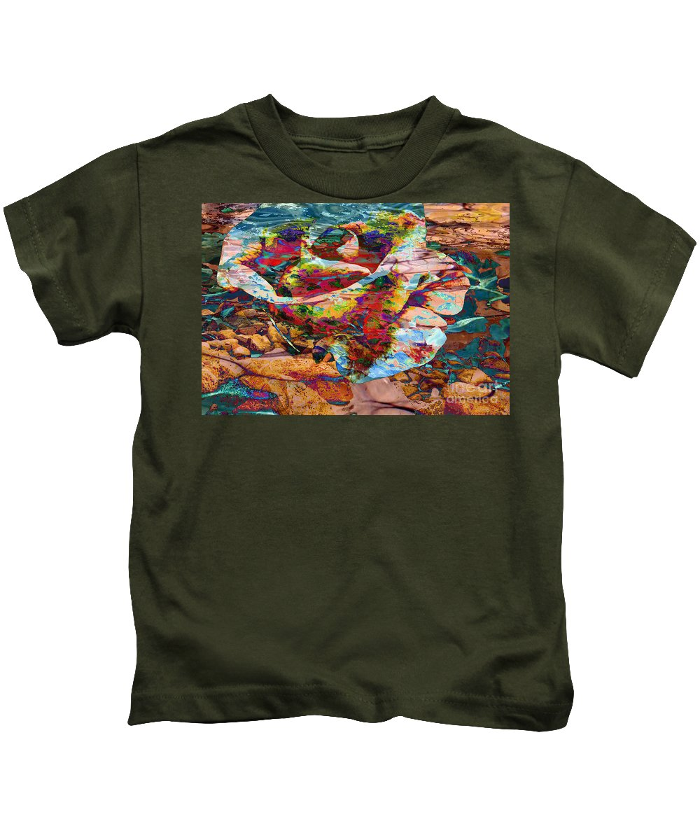 Abstract Kids T-Shirt featuring the digital art Love by Yael VanGruber