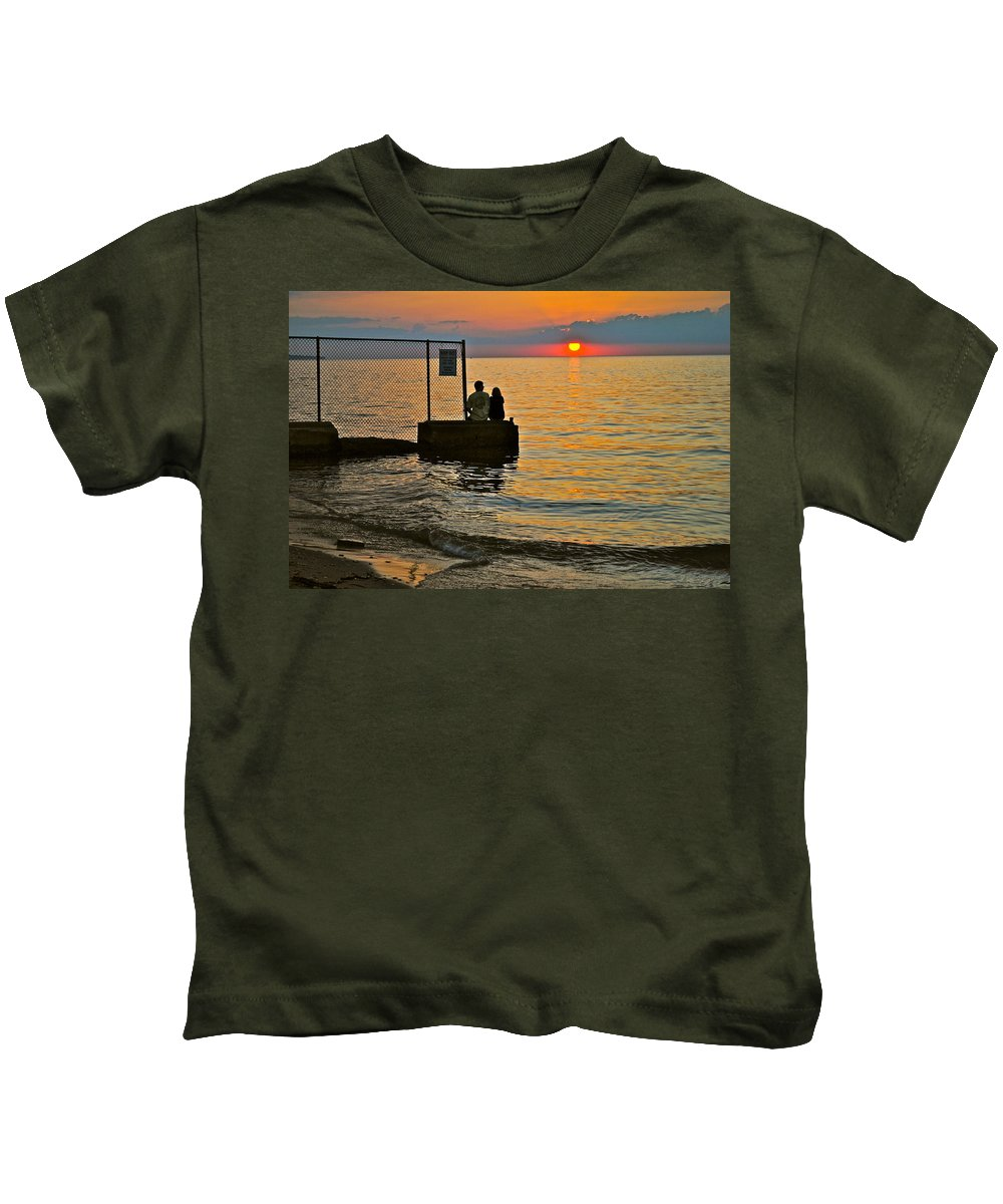 Overlook Kids T-Shirt featuring the photograph Lovers Overlook by Frozen in Time Fine Art Photography