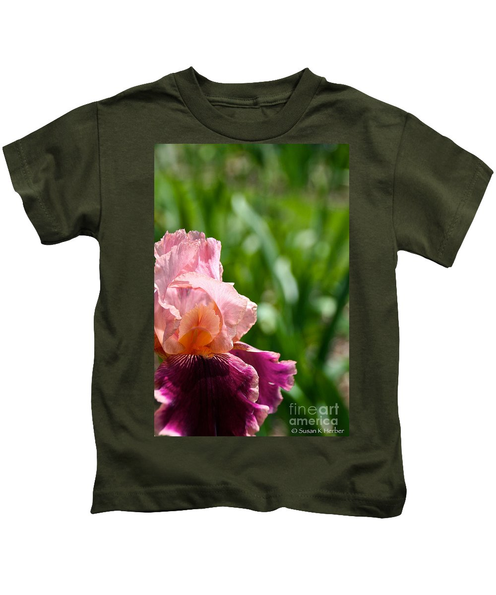 Flower Kids T-Shirt featuring the photograph Magnificent Wine And Roses by Susan Herber