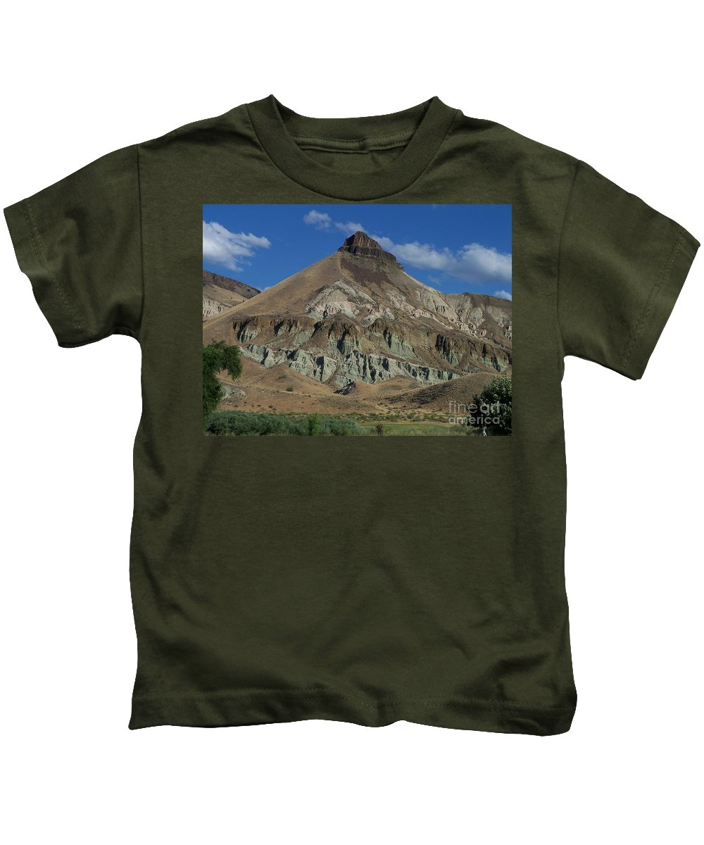 Majestic Rimrock Kids T-Shirt featuring the photograph Majestic Rimrock by Chalet Roome-Rigdon