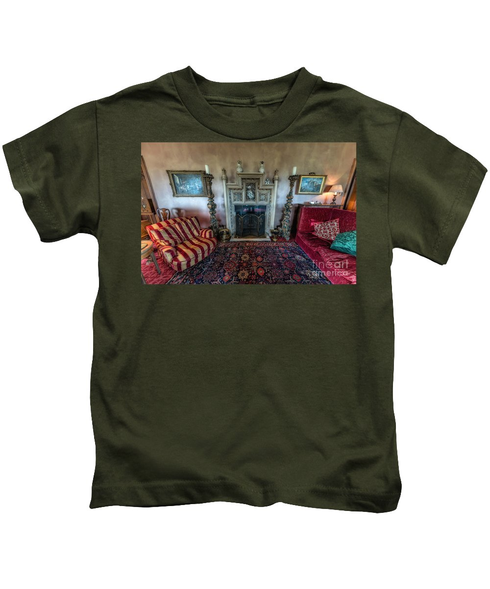 British Kids T-Shirt featuring the photograph Mansion Sitting Room by Adrian Evans