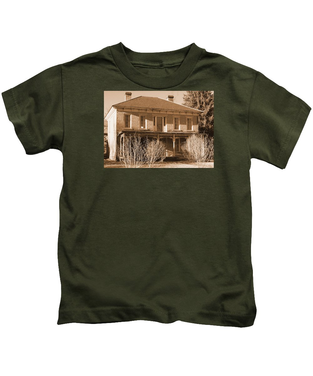 Maplewood Kids T-Shirt featuring the photograph Maplewood Timeless Series 2 by Howard Tenke