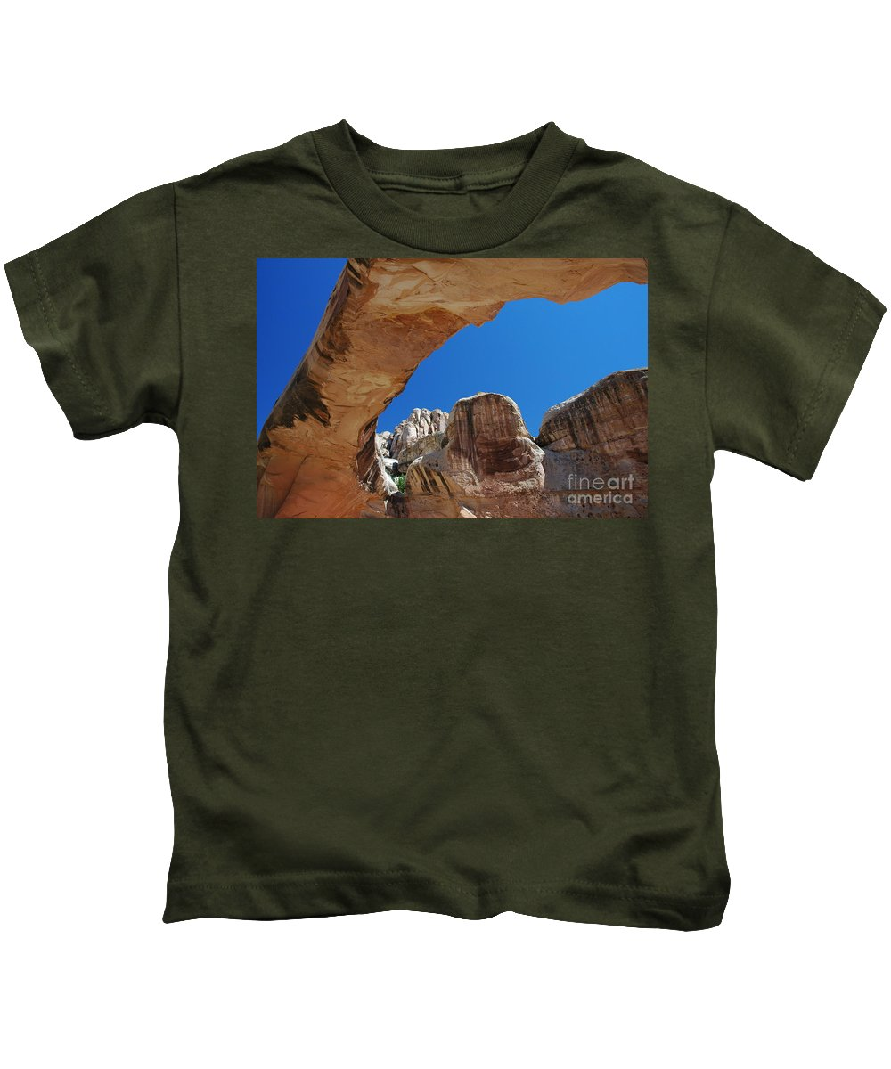 Massive Arch Kids T-Shirt featuring the photograph Massive Arch 1 by Allen Beatty