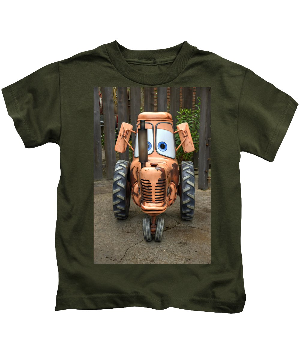Tractor Kids T-Shirt featuring the photograph Mater's Tractor by Ricky Barnard