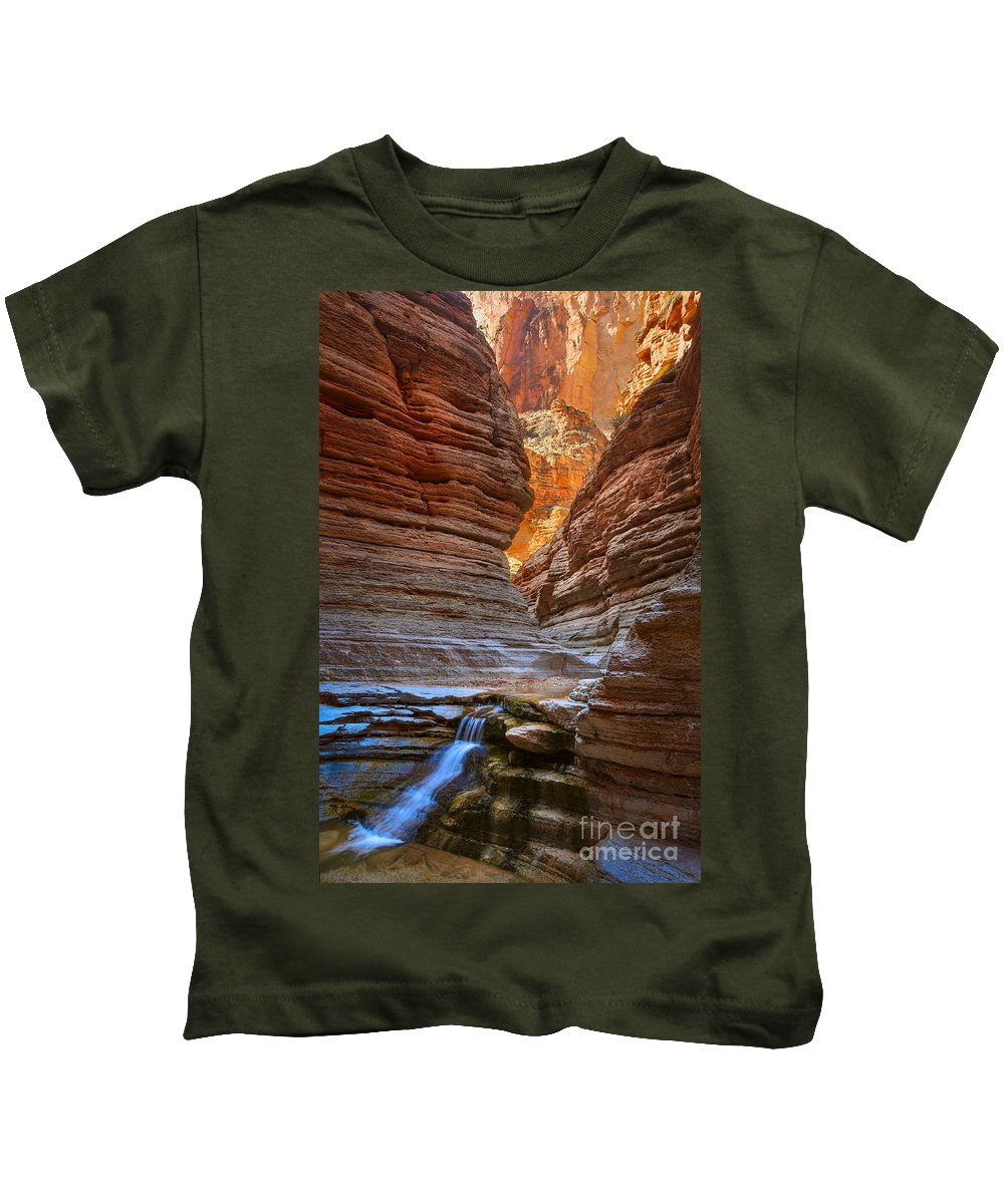 America Kids T-Shirt featuring the photograph Matkatamiba Cascade by Inge Johnsson