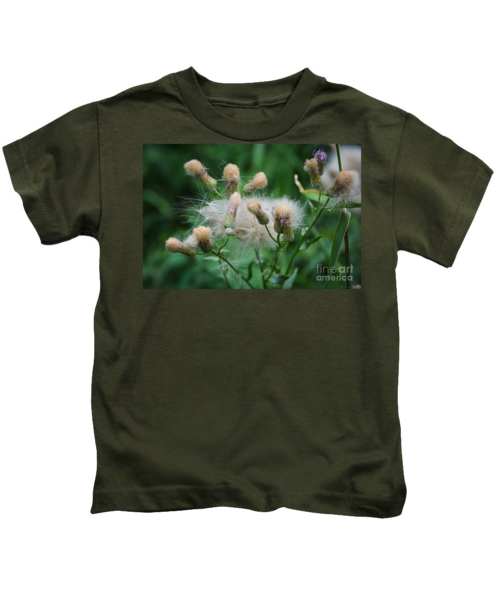 South Dakota Kids T-Shirt featuring the photograph Maturing Weed by M Dale