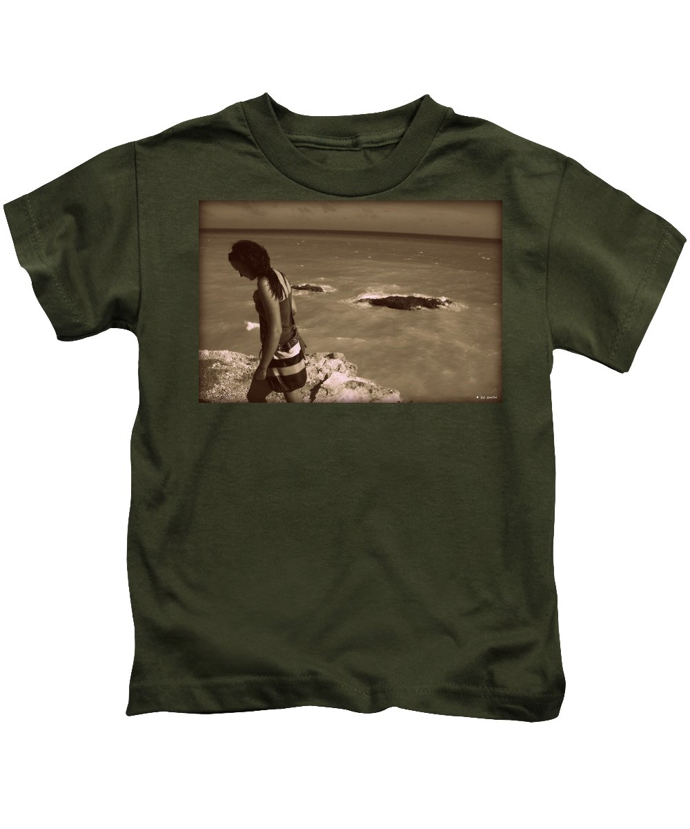 Maybe Tomorrow Kids T-Shirt featuring the photograph Maybe Tomorrow by Edward Smith