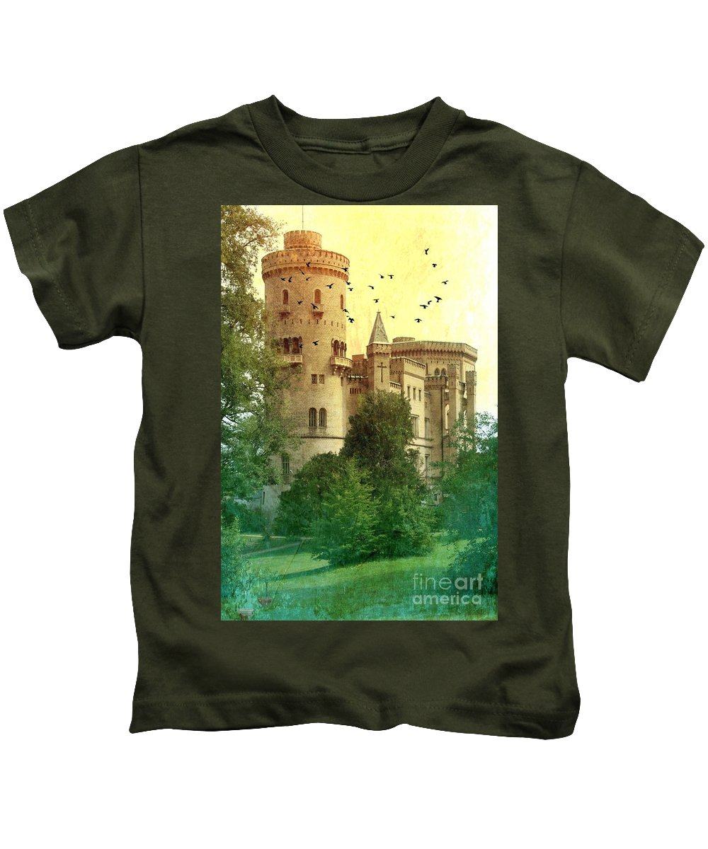 Castle Kids T-Shirt featuring the photograph Medieval Castle - Old World by Carol Groenen