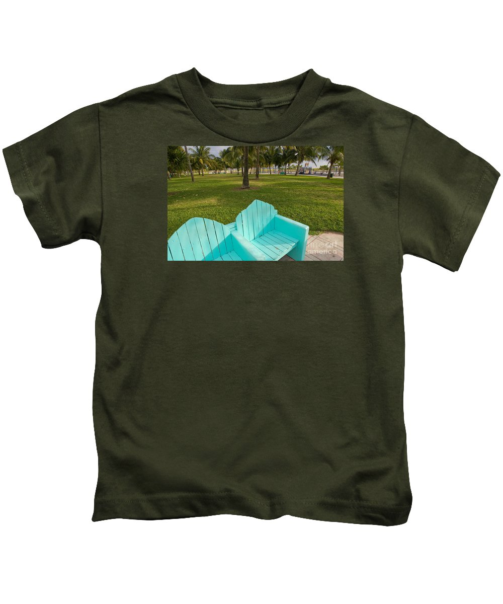 Florida Kids T-Shirt featuring the photograph Miami Beach Colors by Thomas Levine