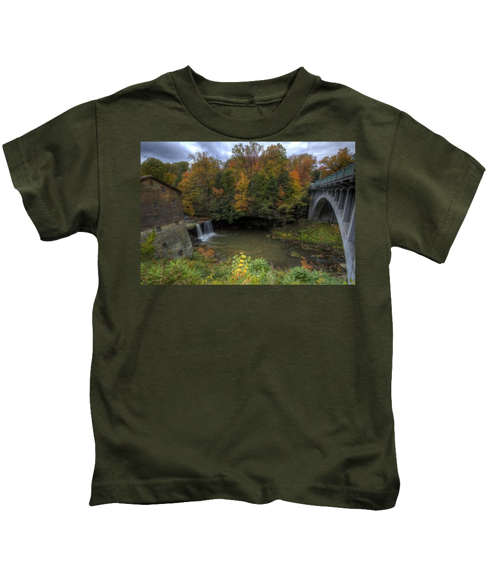 Mill Kids T-Shirt featuring the photograph Mill Creek Park In Autumn by David Dufresne