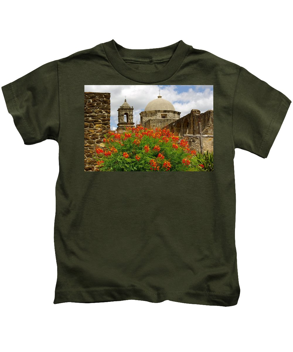Mission Kids T-Shirt featuring the photograph Mission Summer by Gary Richards