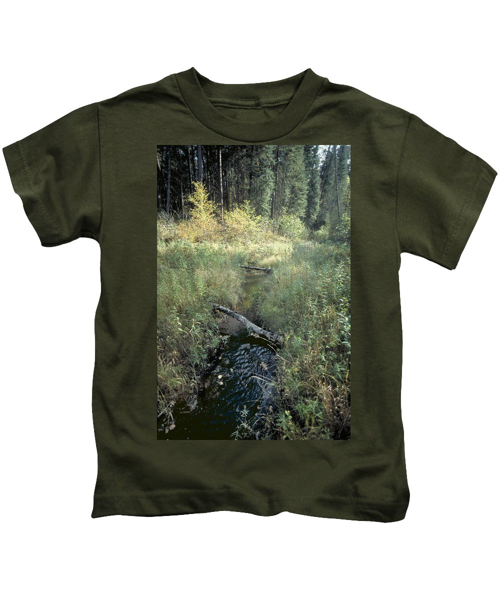 Mississppi River Kids T-Shirt featuring the photograph Mississippi River Headwaters by Garry McMichael