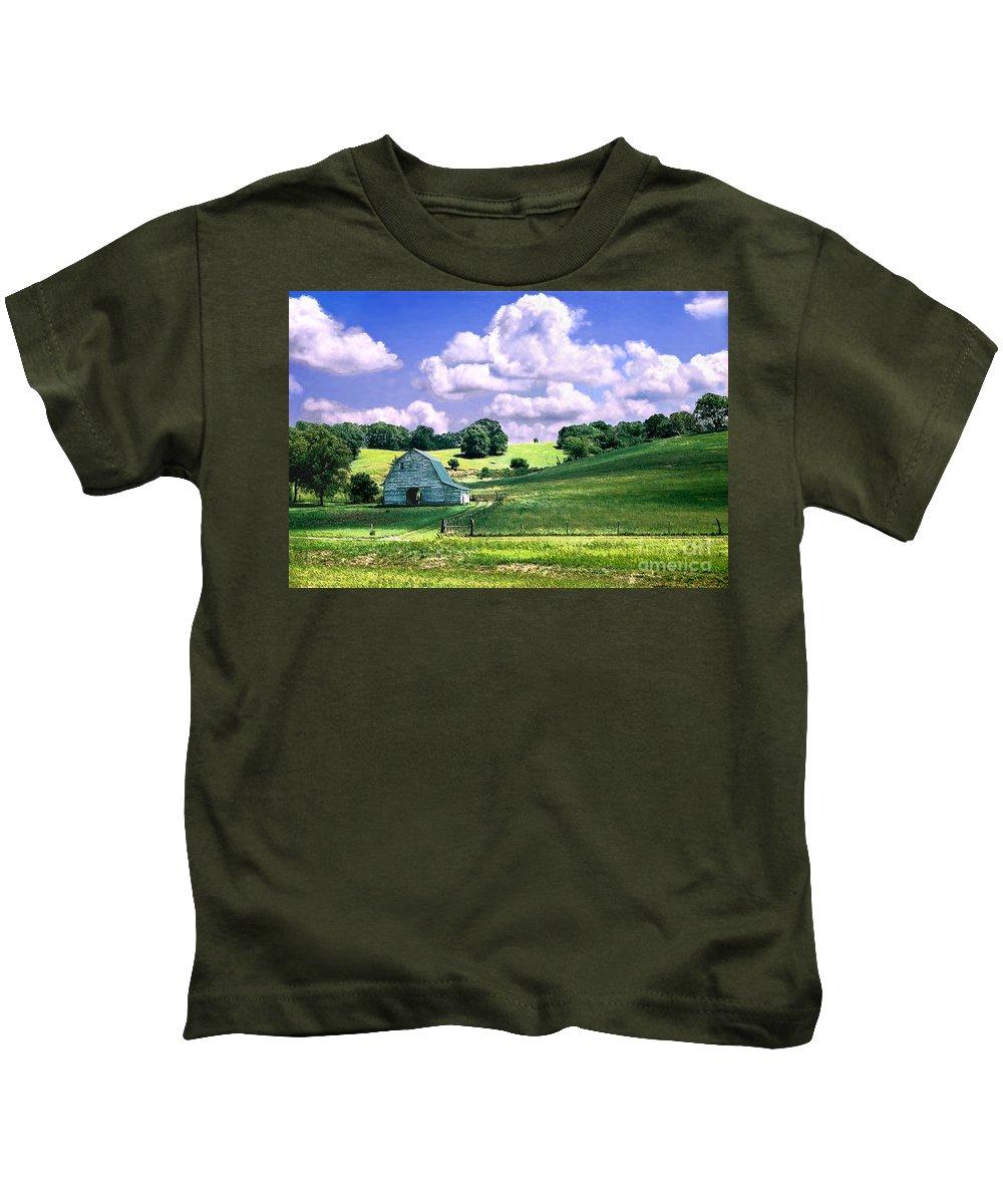 Landscape Kids T-Shirt featuring the photograph Missouri River Valley by Steve Karol
