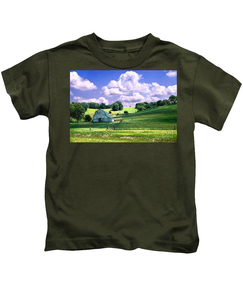 Landscape Kids T-Shirt featuring the photograph Missouri River Valley by Steve Karol