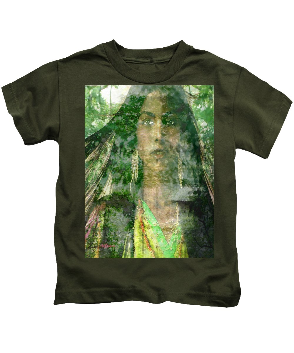 American Indian Kids T-Shirt featuring the digital art Mistress Of The Wind by Seth Weaver