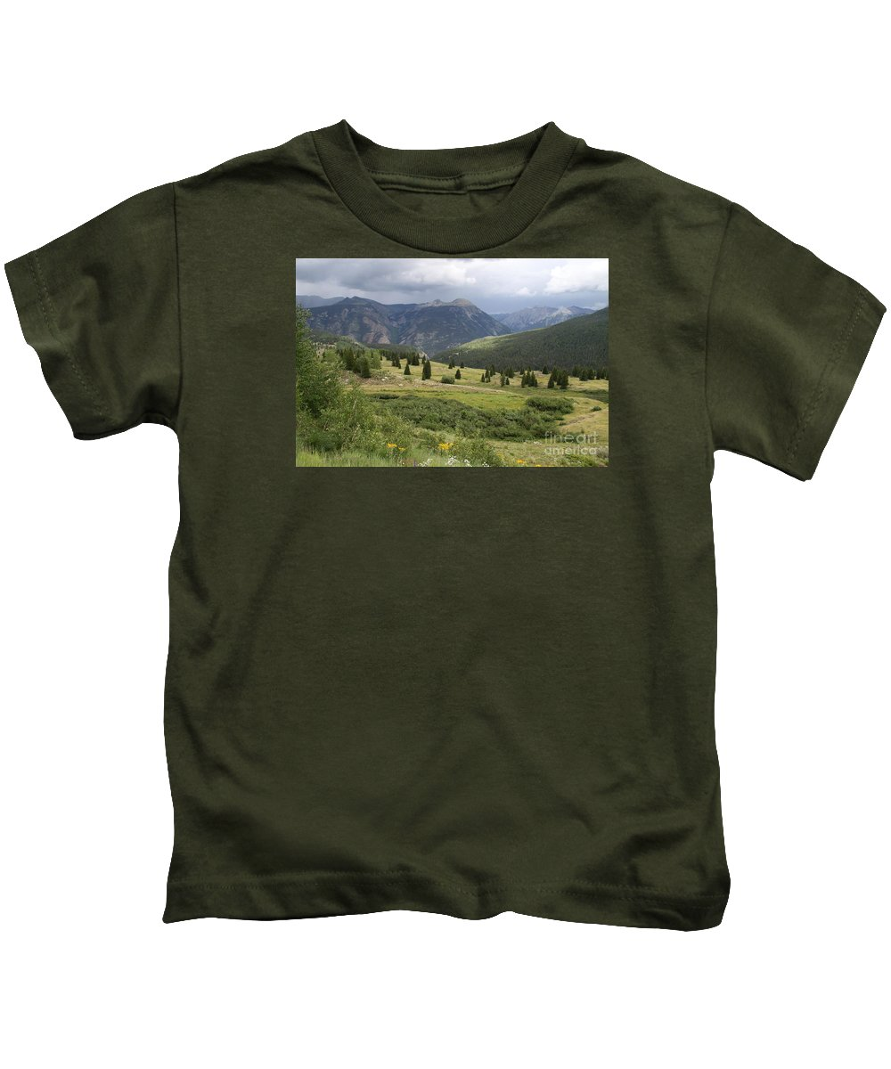Colorado Kids T-Shirt featuring the photograph Molas Pass Alpin Landscape by Christiane Schulze Art And Photography
