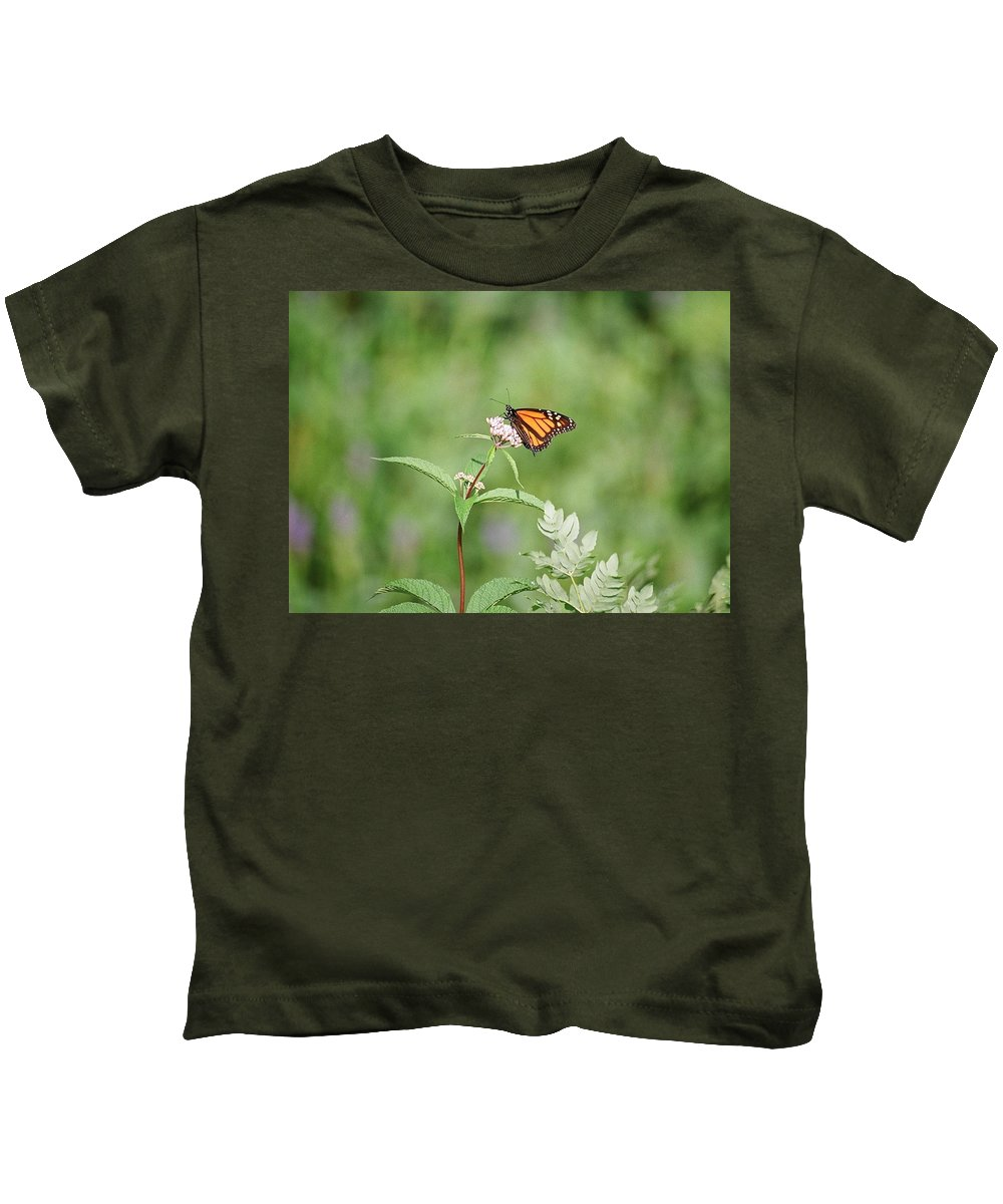 Butterfly Kids T-Shirt featuring the photograph Monarch by David Porteus