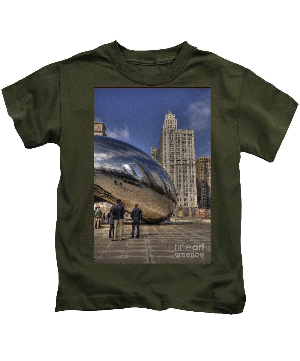 Bean Kids T-Shirt featuring the photograph Morning Bean by David Bearden
