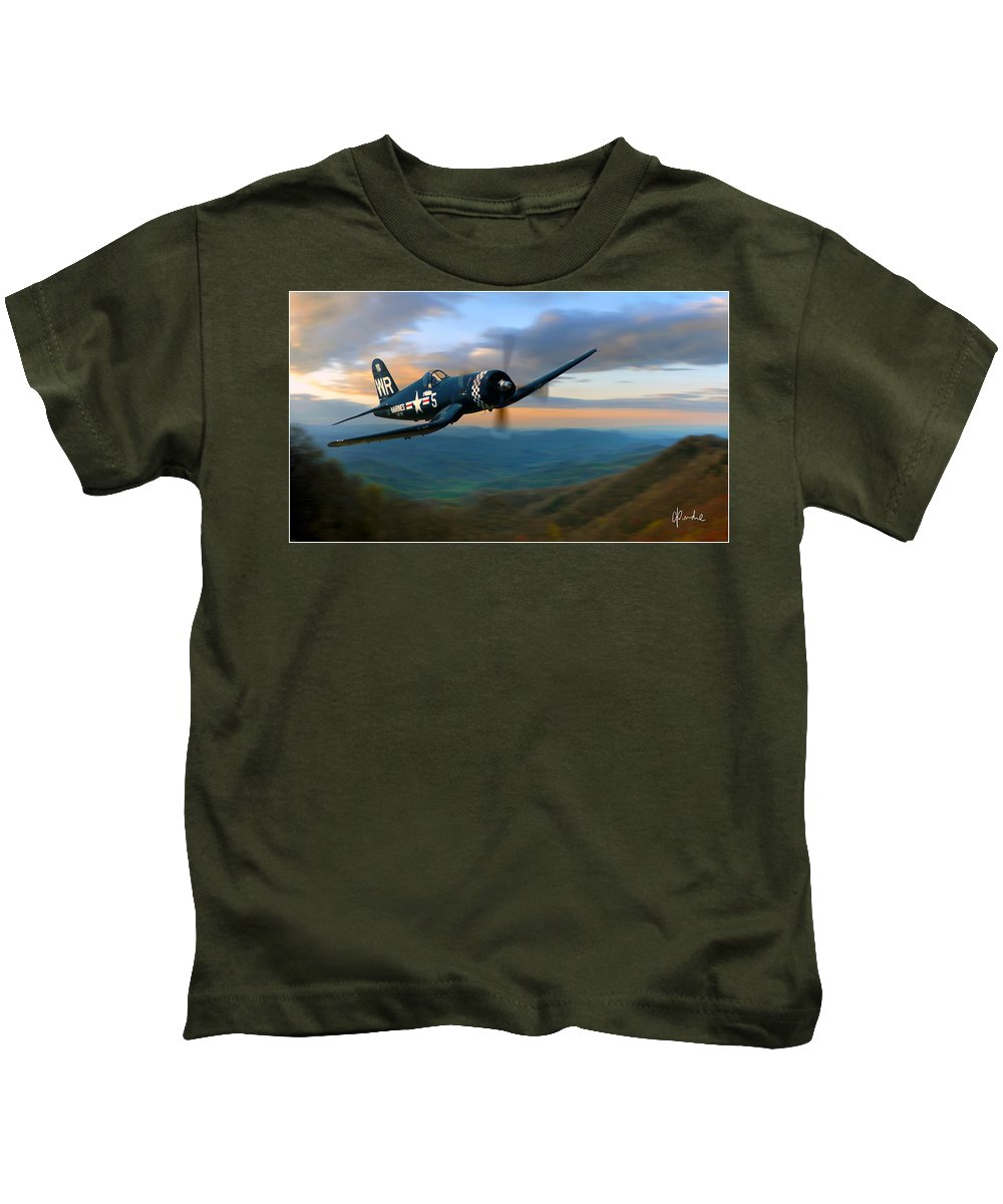 F4u Kids T-Shirt featuring the photograph Morning In The Valley by Craig Purdie