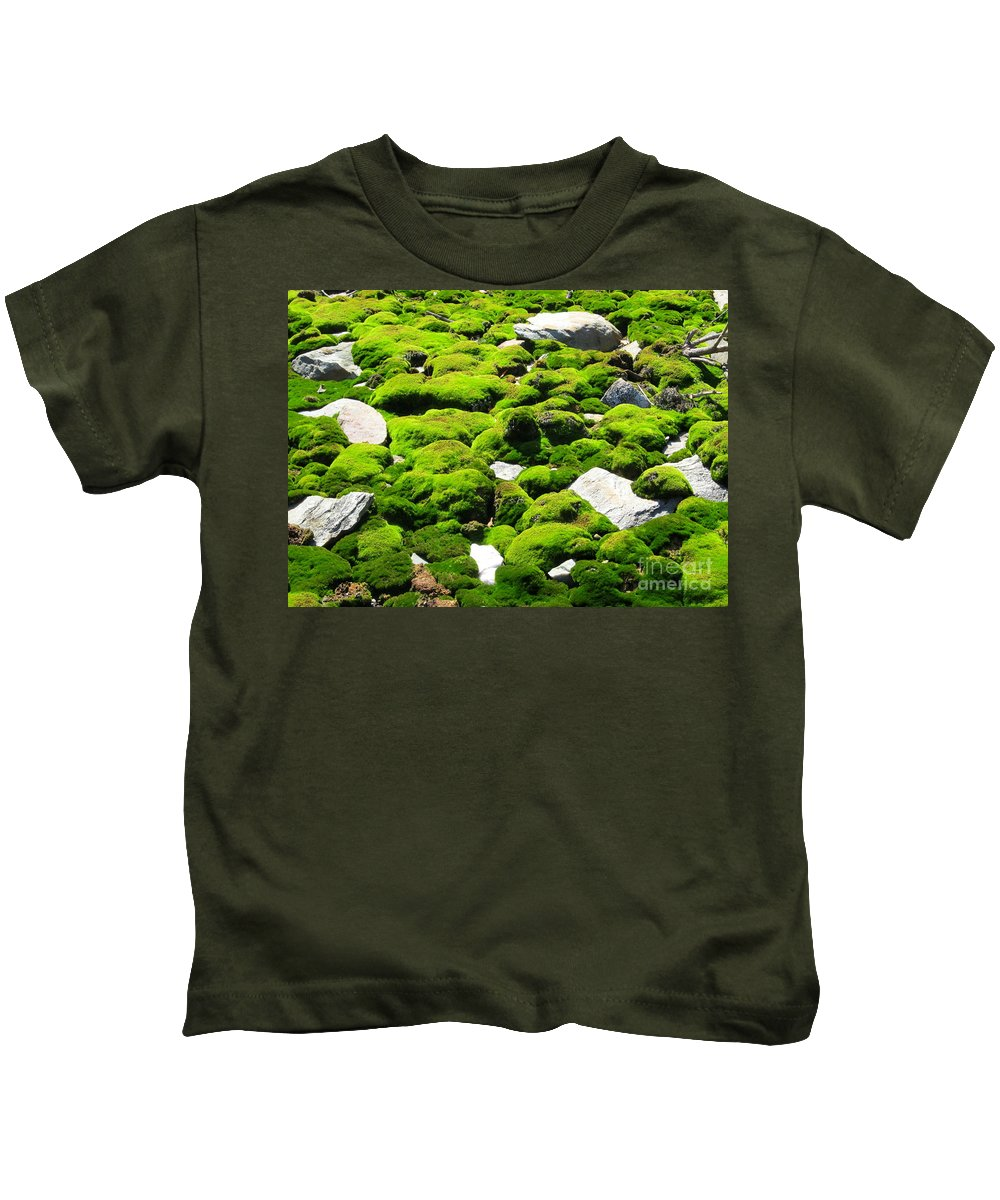 Mountain Moss Kids T-Shirt featuring the photograph Mosscape by Joshua Bales