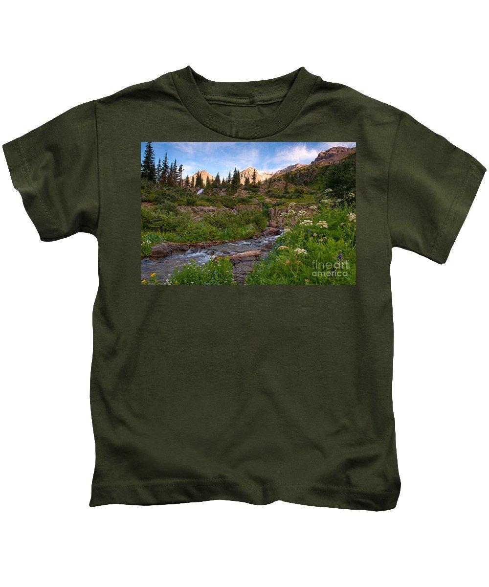 Stream Kids T-Shirt featuring the photograph Mountain Stream by Steve Stuller