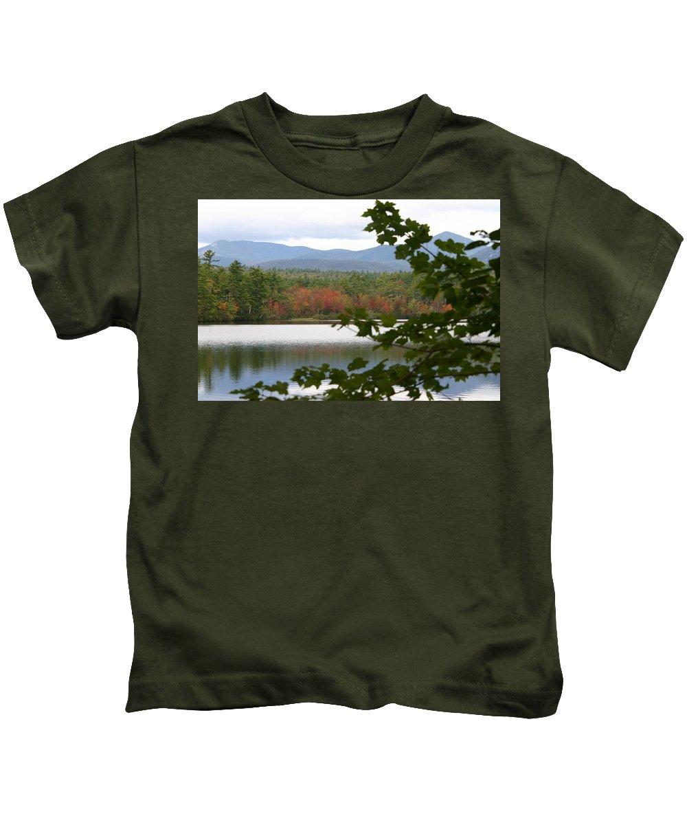Mt Chocorua Kids T-Shirt featuring the photograph Mt Chocorua Through The Trees by Denyse Duhaime