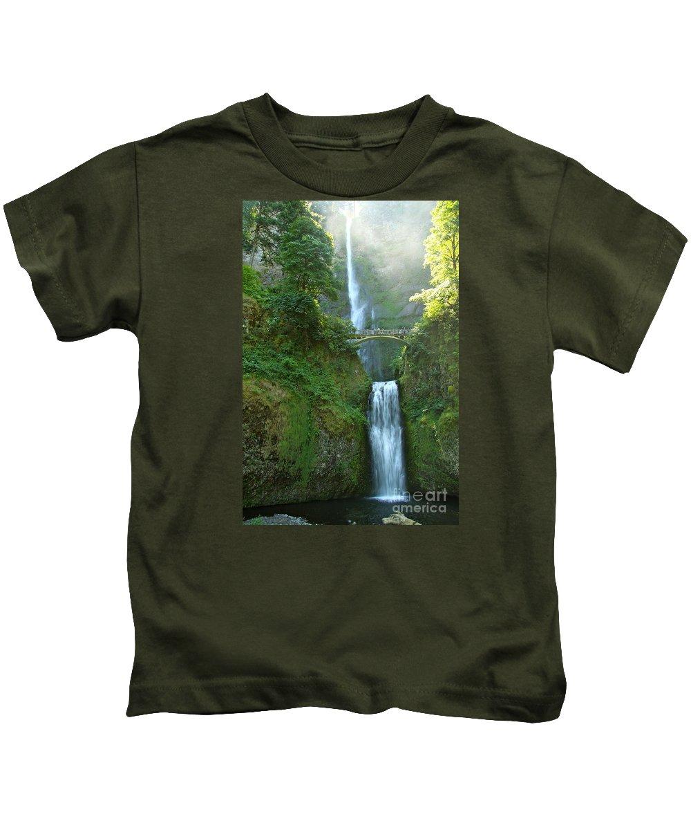 Multnomah Falls Kids T-Shirt featuring the photograph Multnomah Falls by Christiane Schulze Art And Photography