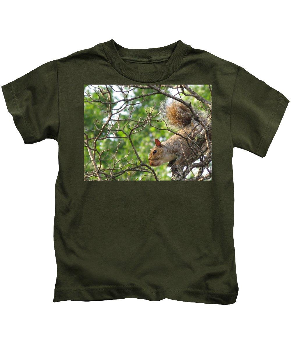 American Kids T-Shirt featuring the photograph My First American Squirrel by Ausra Huntington nee Paulauskaite