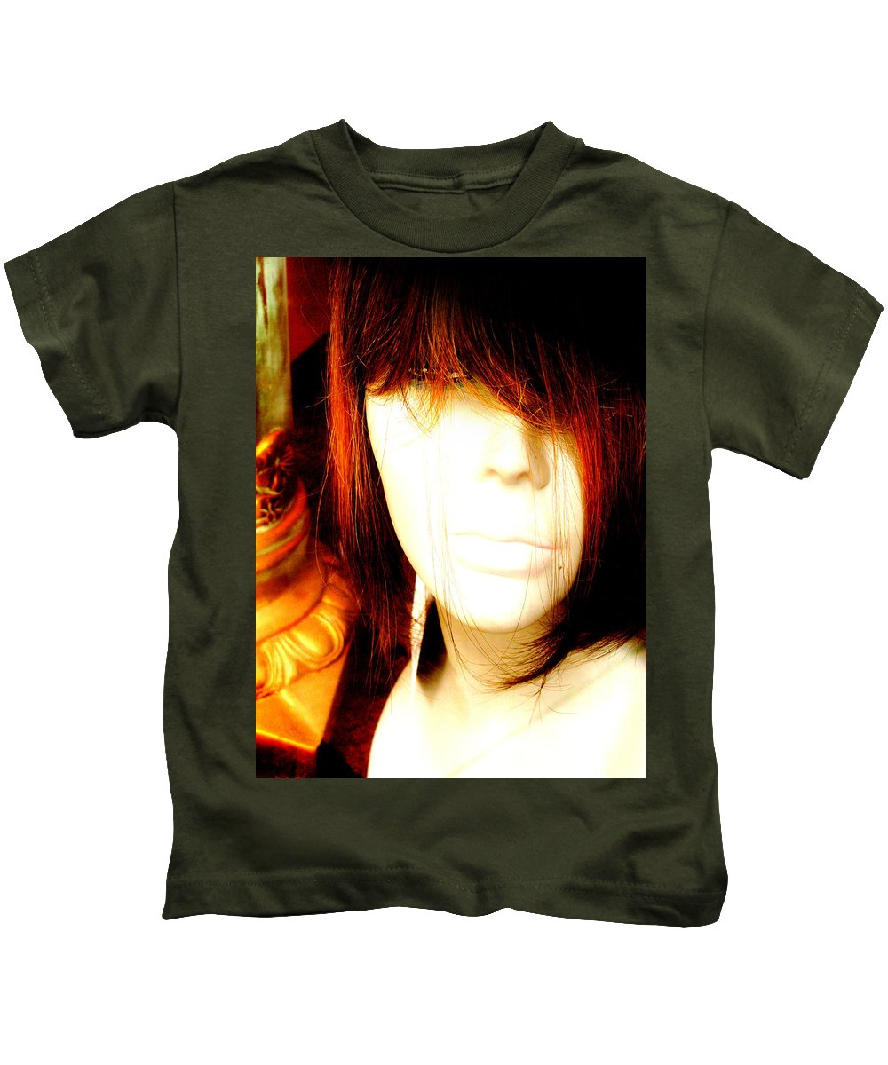 Mysterious Lady Kids T-Shirt featuring the photograph Mysterious Lady by Randi Kuhne