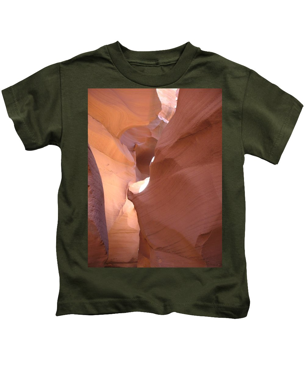Canyon Kids T-Shirt featuring the photograph Narrow Canyon Viii - Antelope Canyon by Christiane Schulze Art And Photography