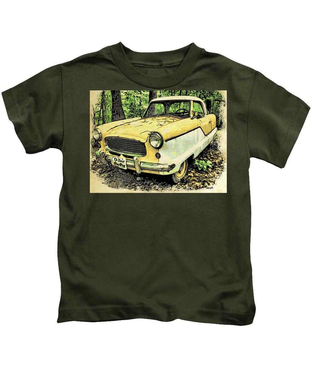 Rebecca Korpita Kids T-Shirt featuring the photograph Nash Metropolitan by Rebecca Korpita