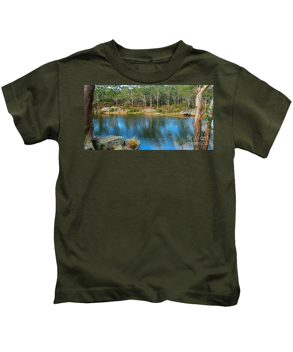 Photography Kids T-Shirt featuring the photograph Nature In The City by Kaye Menner
