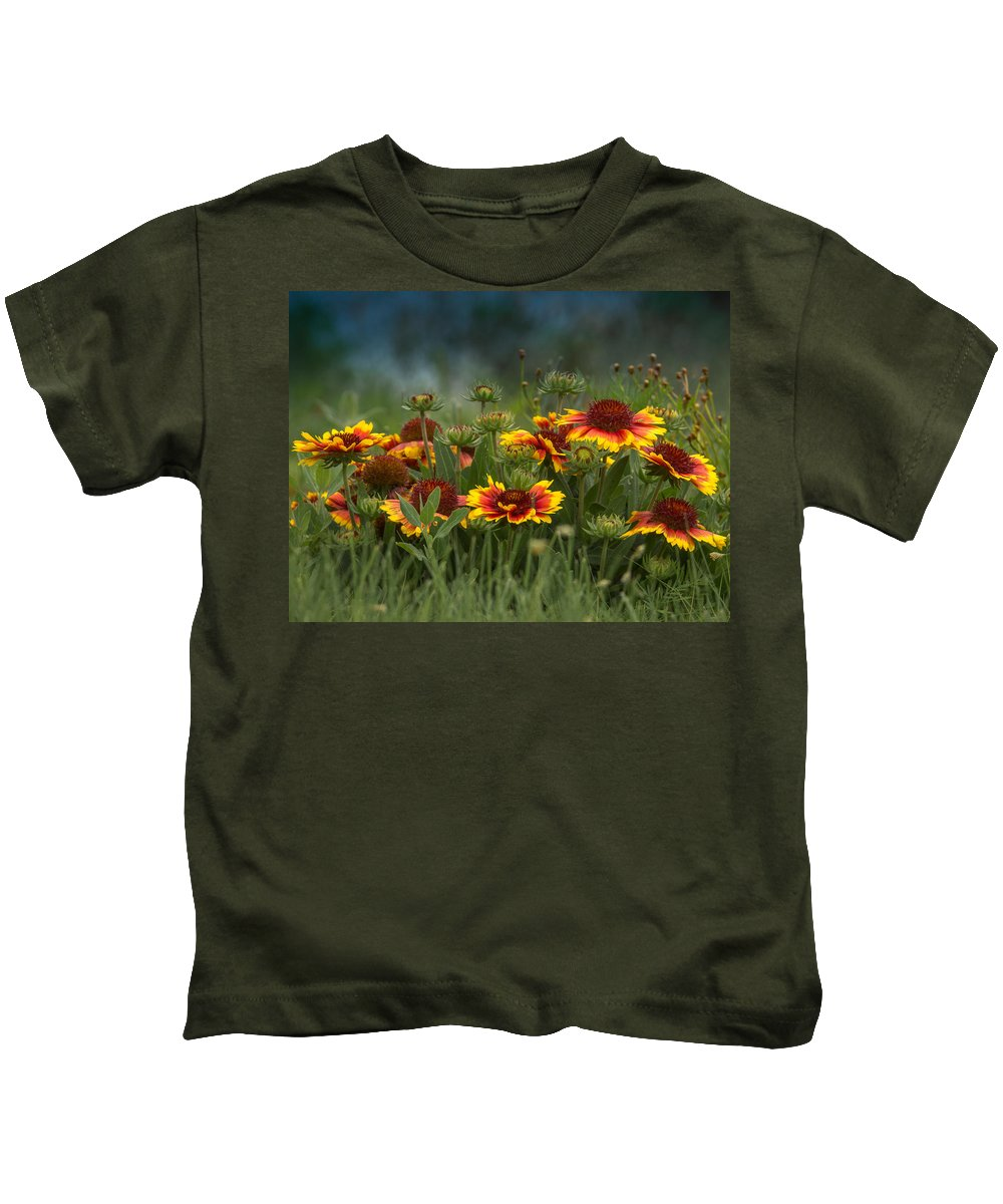 Colorful Kids T-Shirt featuring the photograph Natures Garden by Ernie Echols
