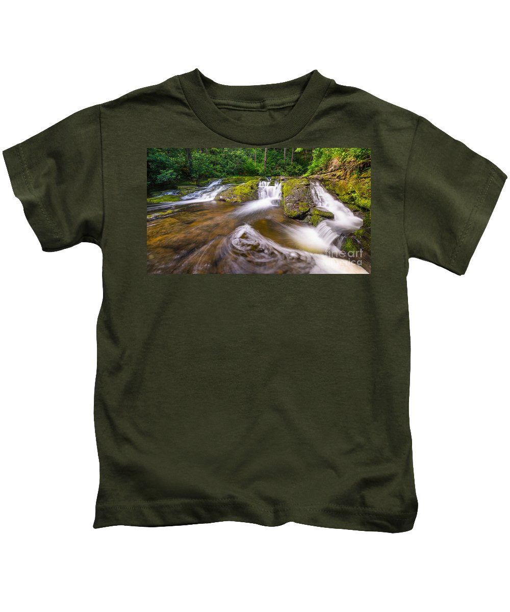 Off The Beaten Path Kids T-Shirt featuring the photograph Nature's Water Slide by Michael Ver Sprill