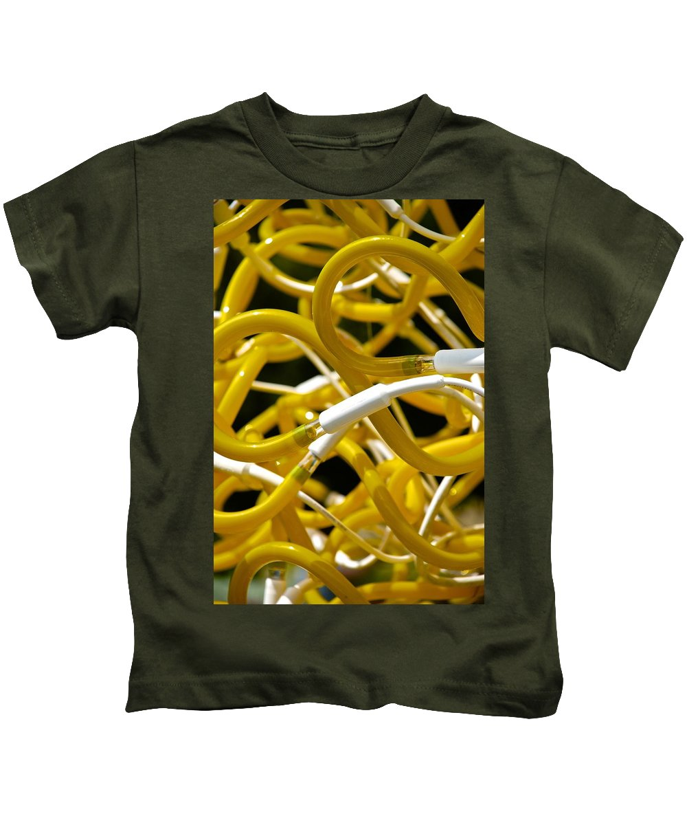 Neon Kids T-Shirt featuring the photograph Neon by Charlie Brock