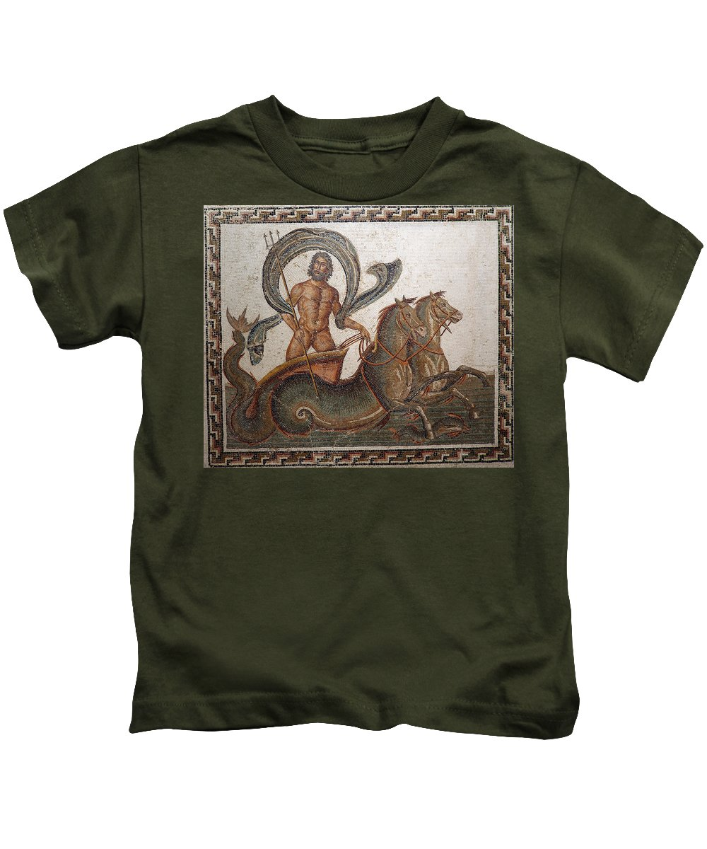 Statue Kids T-Shirt featuring the photograph Neptune by Paul Fell