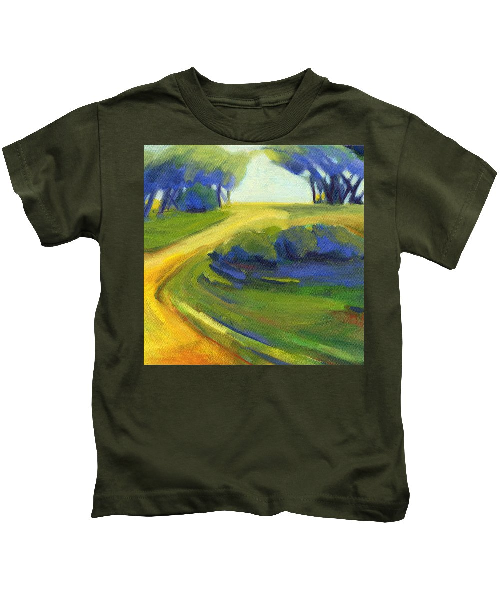 California Kids T-Shirt featuring the painting New Beginning 1 by Konnie Kim