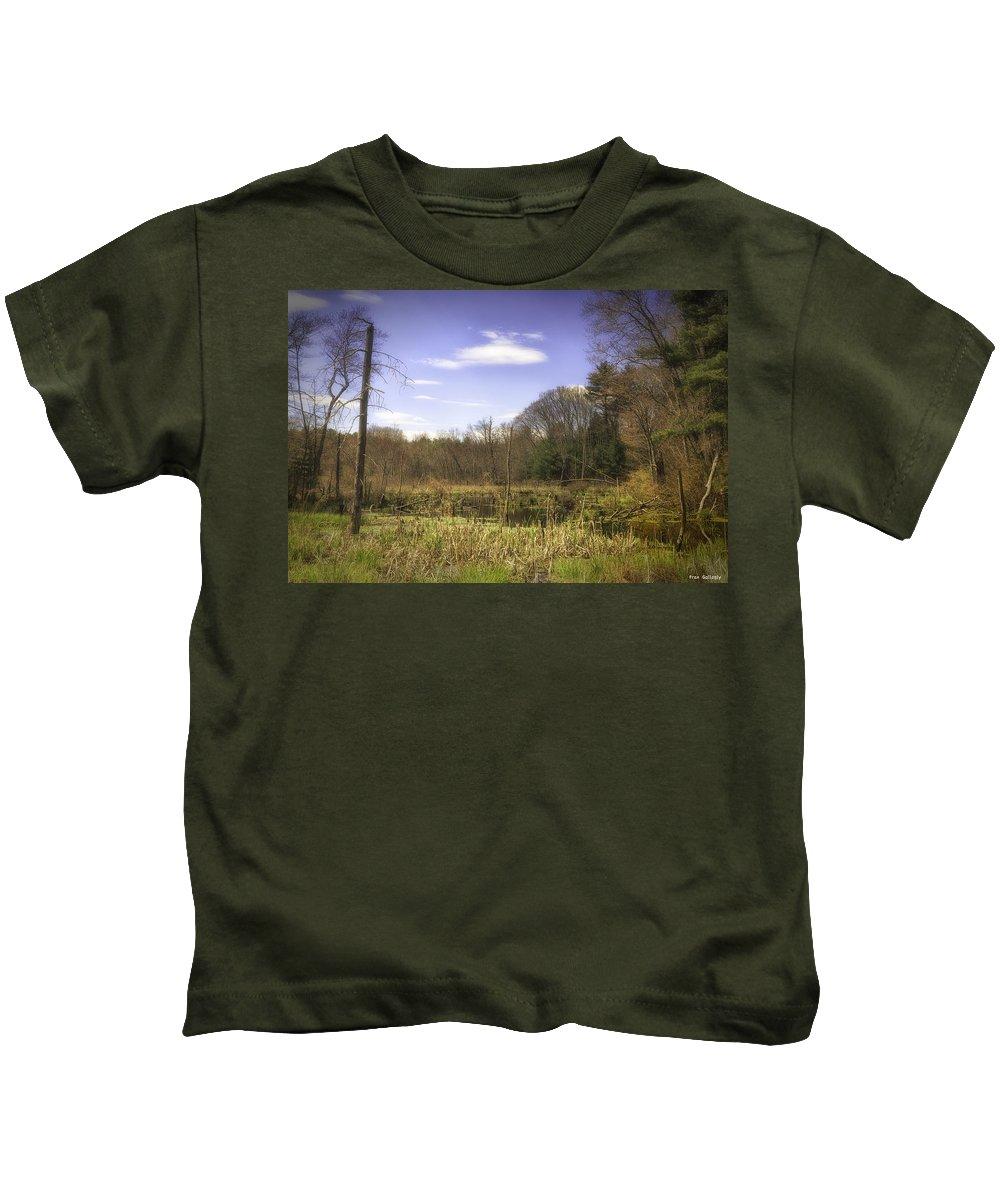 Wetland Kids T-Shirt featuring the photograph New England Wetland by Fran Gallogly