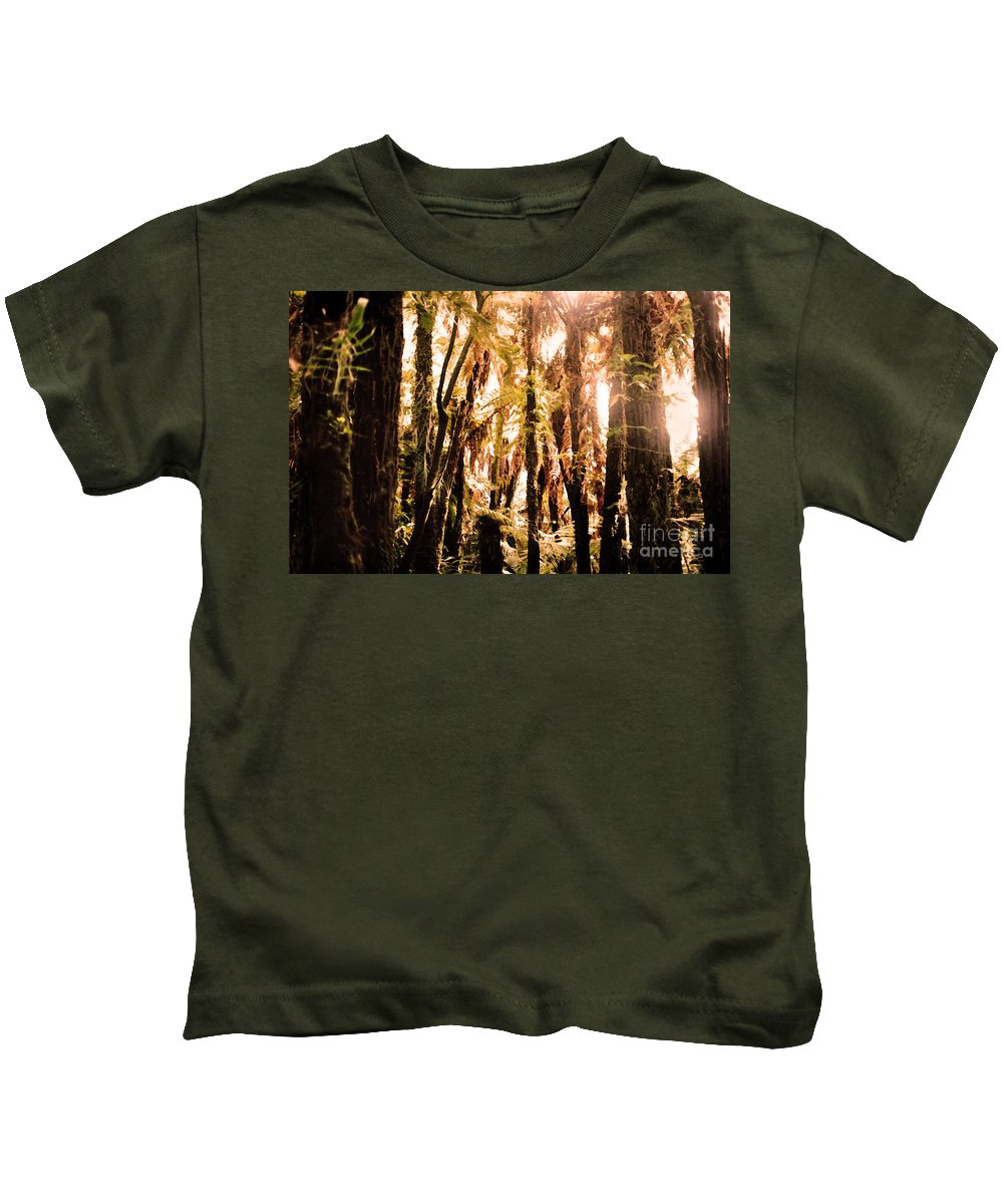 New Zealand Bush Kids T-Shirt featuring the photograph New Zealand Bush by Lydia Holly
