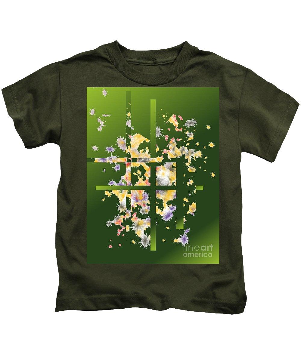 Kids T-Shirt featuring the digital art No. 1110 by John Grieder