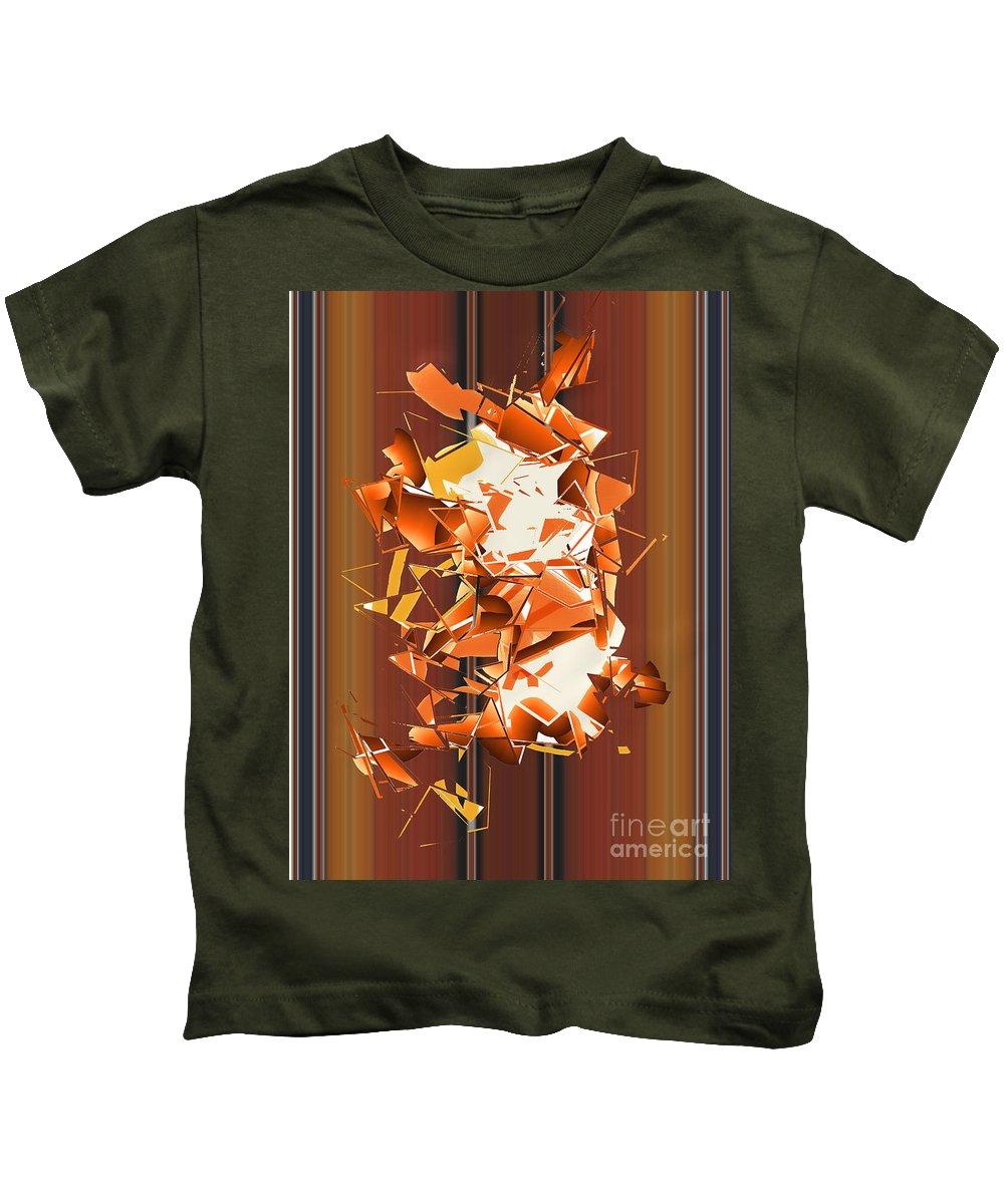 Kids T-Shirt featuring the digital art No. 787 by John Grieder
