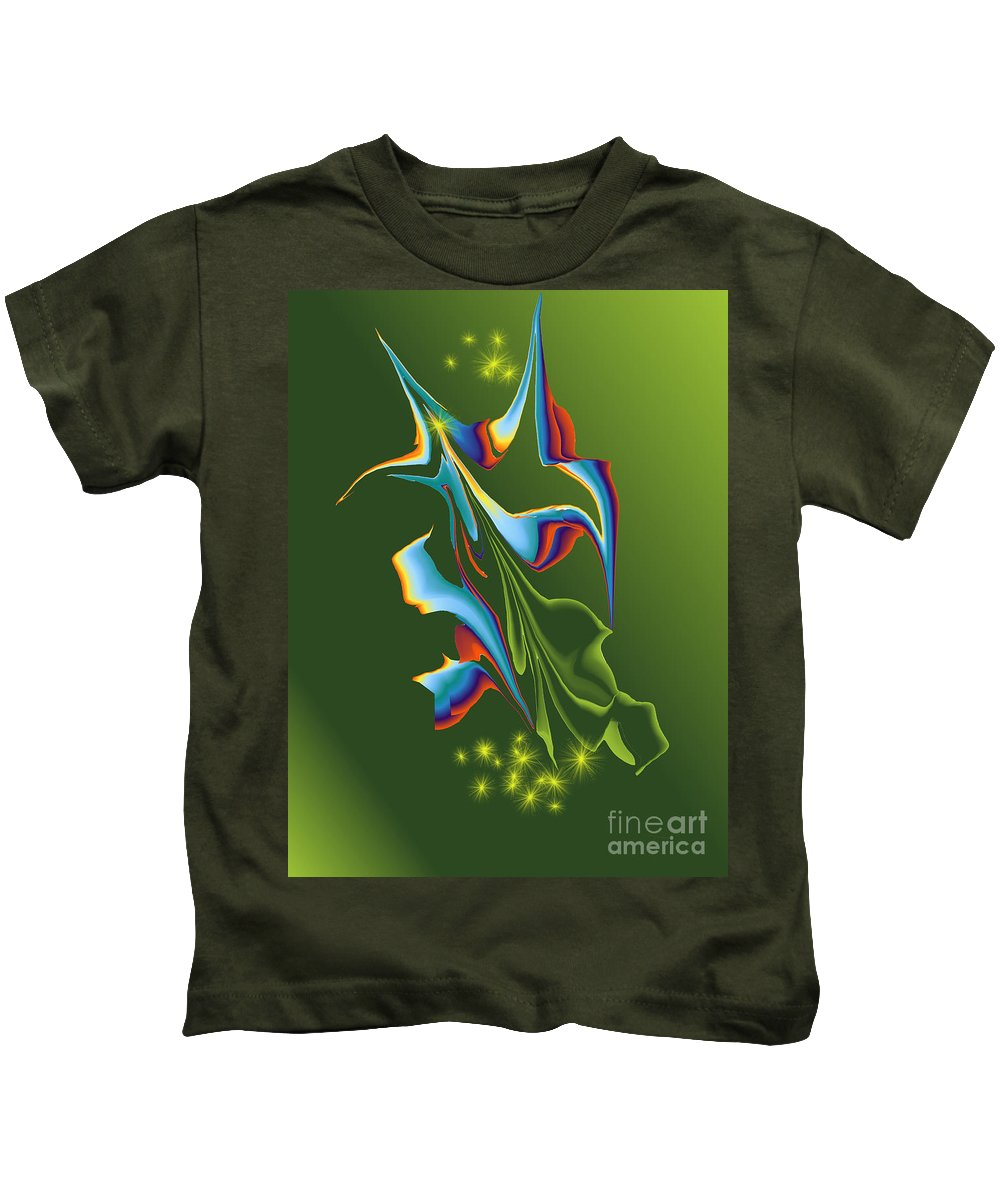 Kids T-Shirt featuring the digital art No. 954 by John Grieder