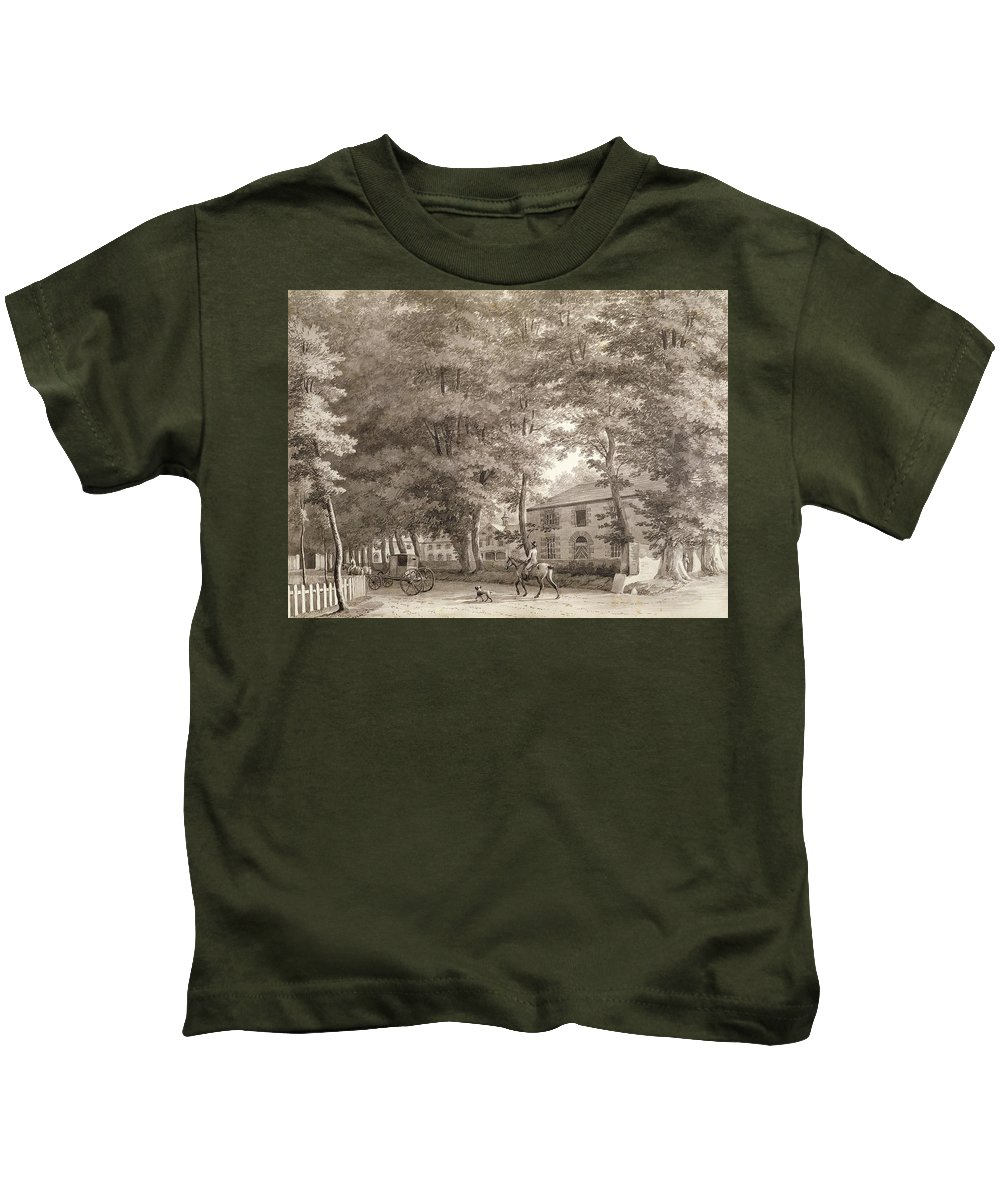 32x43cm Kids T-Shirt featuring the painting No.3933.f8 View Of The Stables On Lord by William Ashford