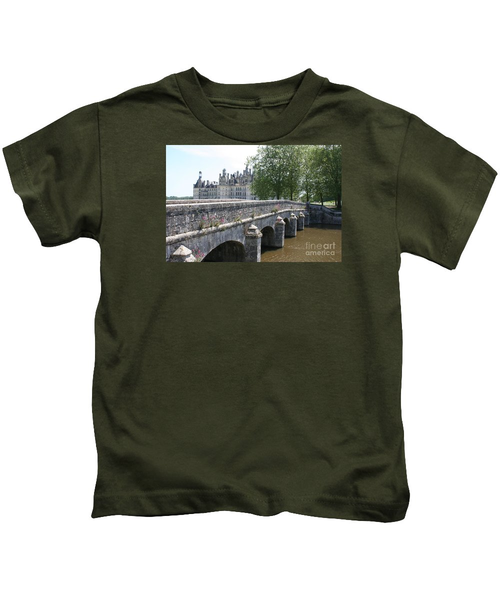 Palace Kids T-Shirt featuring the photograph Northwest Facade Of The Chateau De Chambord by Christiane Schulze Art And Photography